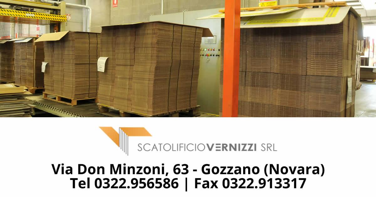 Scatolificio Vernizzi: produzione scatole in cartone ondulato